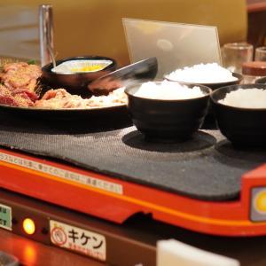 【焼肉特急】料理が特急列車に乗って運ばれてくる楽しいお店!