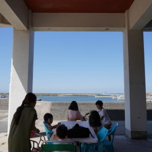 淡路島 嘉兵衛荘のテラスランチ 海を眺めながら食べるご飯が最高!