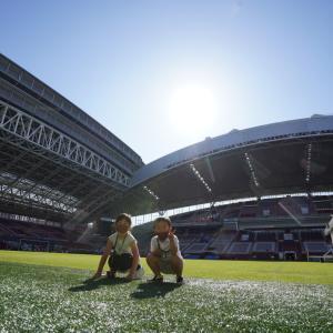 ノエビアスタジアム神戸 スタジアムツアーに参加 子どもたちも大喜びでいい記念になりました
