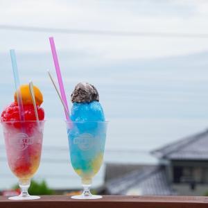 淡路島 ブルーシールの美味しいアイス食べてきた 景色のいいテラス席が最高