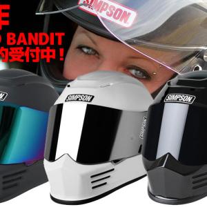 【イナッキー】キムタクもプライベートで愛用する『SIMPSONヘルメット』より新作【SPEED BANDIT】登場! 先行予約受付中♪