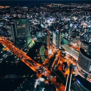 ベイビュー客室の夜景を堪能。レギュラーフロア編。「横浜ロイヤルパークホテル」