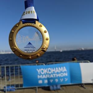 横浜マラソン2019 初メダルもらった