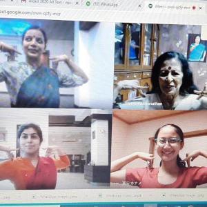 インドとMeetでオンラインレッスン