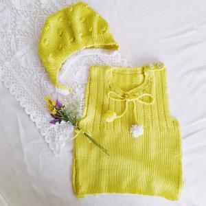 5か月の姪っ子のために編む!ベビーニットベスト◎機械編みでさくさく♪