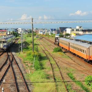津軽鉄道 夏の客車列車とキハ40