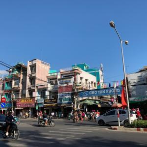 ベトナムでの休日の朝