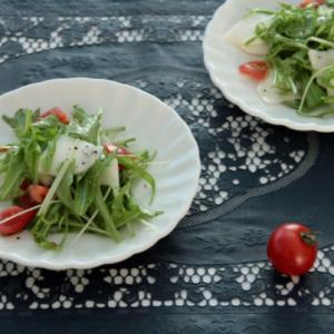 水菜とカブのレモンサラダ