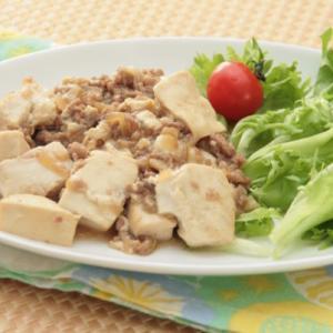 豆腐とひき肉の炒め物