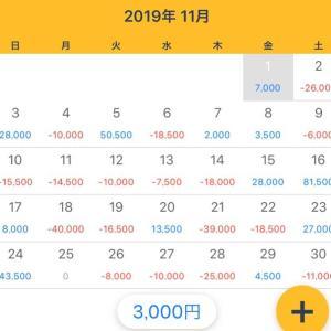 【収支発表】2019年11月収支