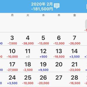 【収支発表】2020年2月収支