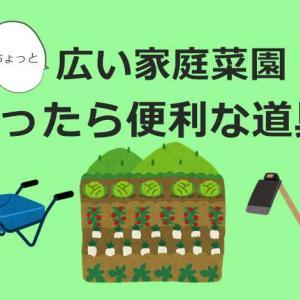 広い家庭菜園に必要なものや便利アイテム【田舎暮らしの家庭菜園】