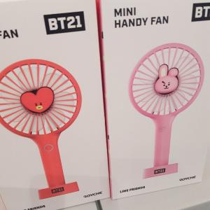 【BTS】BT21のハンディ扇風機を買ったよ!【弘大】