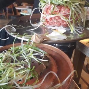 【ご飯】お肉のタワーにびっくり!サンドミプルコギ【弘大】