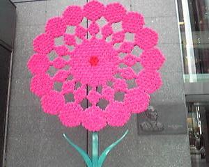 カーネーションの花びらが束ねられている一点(コア)
