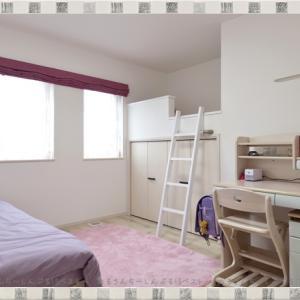 子ども部屋に「ロフト」をプラス&子どもの「好きな色」で統一感を持たせてすっきり☆むらさき色×ピンクインテリア♪