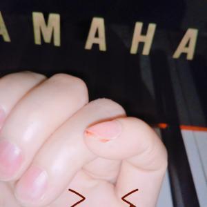 ピアノ練習してたら流血。