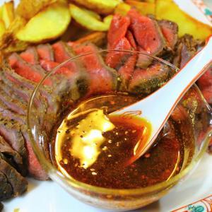 ローストビーフとサラダ・・・バルサミコ醤油