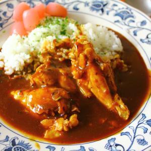 簡単チキンカレー・煮物・・・鶏スープを使って