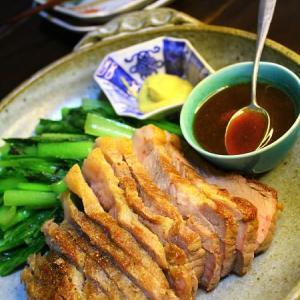 塩豚のフライパン焼き