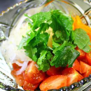 白玉ねぎのサラダ