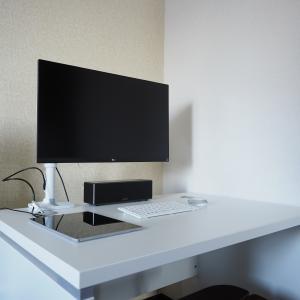 【念願のパソコンデスクを導入】専用スペースは作業効率が上がるってもんだね!!