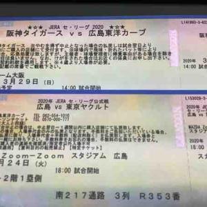 幻のカープ観戦チケット