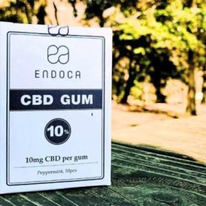 【口コミ(体験談・感想)】エンドカ(Endoca)『CBDチューインガム100mg/10個』
