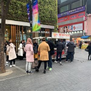 【韓国旅行】 朝限定! 明洞ハンバーガートースト