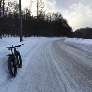雪上ポタリング 2021.03.06 そして、リアディレイラーハンガーが…(泣)。