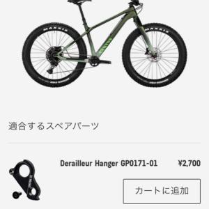 【CANYON DUDE CF8】リアディレイラーハンガー補修部品の発注