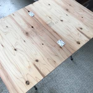 折り畳みテーブル:ステンシルしてみました♪