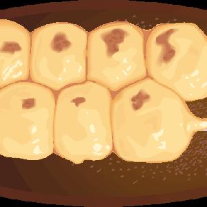 皿にのった串団子のイラスト