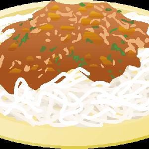 スパゲッティのイラスト
