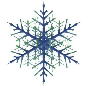 樹枝状雪の結晶のイラスト