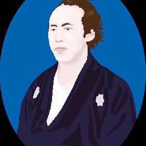 坂本龍馬の肖像のイラスト