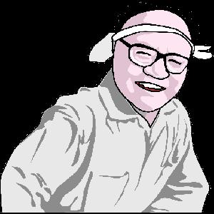 棟方志功の似顔絵のイラスト