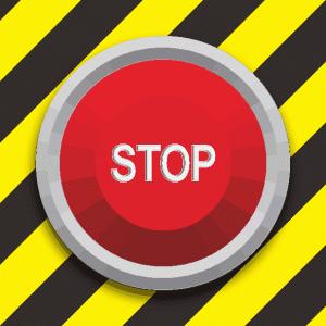 緊急用のストップスイッチのイラスト