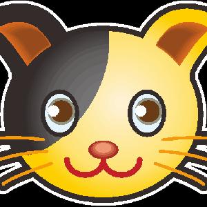 可愛い子猫のシール用イラスト