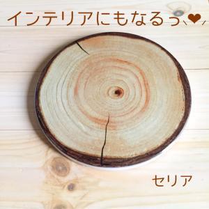 *《セリア》オシャレな鍋敷き♡陶器の切り株