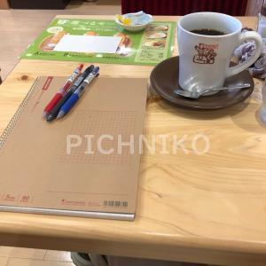 コーヒーを飲みながらタスクを確認の画像
