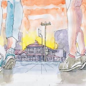 ドローイング243. 小説:小樽の翆174. 最後の夏の空気かな