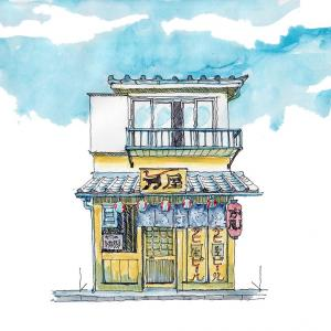 ドローイング244. 小説:小樽の翆175. 文さんの店