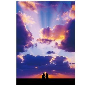 ドローイング253. 小説:小樽の翆184. 夕焼け空