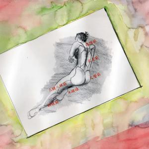 ドローイング256. 小説:小樽の翆187. 芸術の秋ぃー