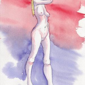 ドローイング366. 小説:小樽の翆295. 美希姉ちゃんがモデル