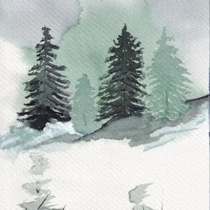 ドローイング373. 小説:小樽の翆302. 雪国の街の必需品