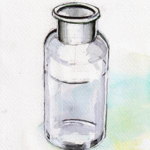 ドローイング477. 小説:小樽の翆405. 描きかけのスケッチ