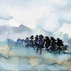 ドローイング480. 小説:小樽の翆408. 雲海