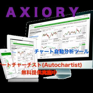 トレンドを見極める方法の一つとして、オシレーターでギャンファンを利用してみよう!AXIORYで、Autochartistを利用しよう!!